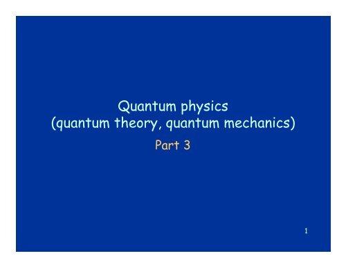 Quantum Physics Quantum Theory Quantum Mechanics