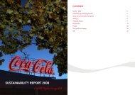 SUSTAINABILITY REPORT 2008 - Coca-Cola