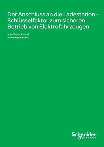 Der Anschluss an die Ladestation ... - Schneider Electric