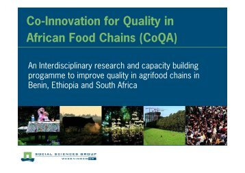 Co Innovation for Quality in African Food Chains (CoQA)