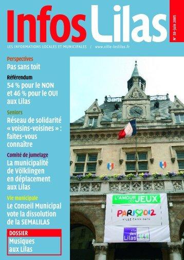 Infos Lilas N°38 - Juin 2005 - Les Lilas