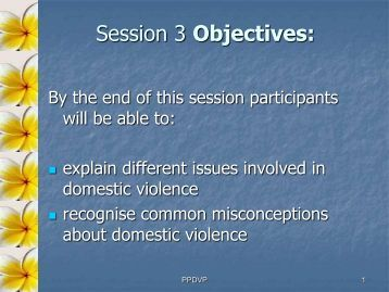 DV in the Pacific 2007 - Pacific Prevention of Domestic Violence ...