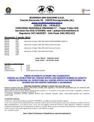 SCUDERIA SAN GIACOMO A.S.D. Cascina ... - Horsesmania.it