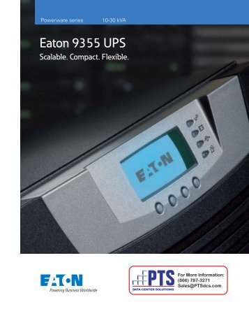 Eaton 9355 UPS - PTS Data Center Solutions