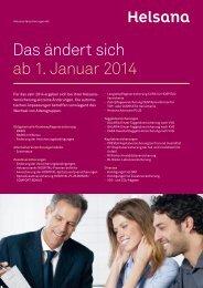 Das ändert sich ab 1. Januar 2014 - Helsana