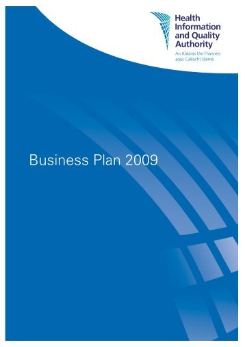 Business Plan 2009 - hiqa.ie