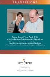Taking Care of Your Adult Child with Intellectual ... - Bet Tzedek