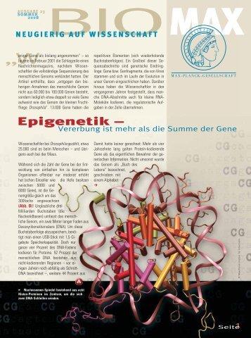 Epigenetik - Vererbung ist mehr als die Summe der Gene - Scinexx