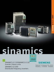 Siemens Sinamics G110/G120 - MEYER Industrie-Electronic GmbH