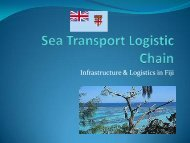 fiji shipping agents association - Transport Planning Unit