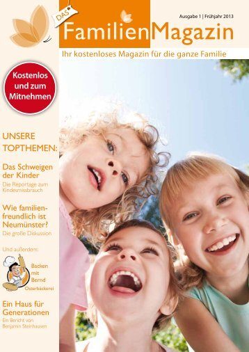 Das FamilienMagazin Erstausgabe