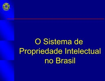 Propriedade Intelectual no Brasil - UTFPR