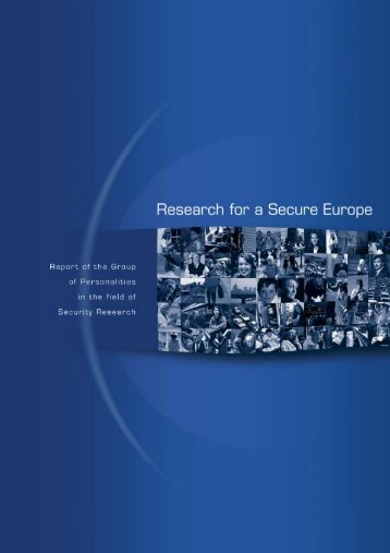 Research for a Secure Europe - European Commission - Europa