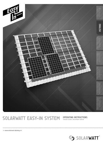 solarwatt easy-in system operating instructions - Techaton