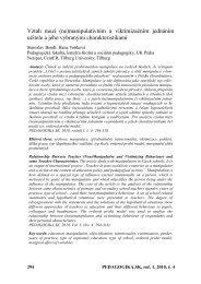 Využití pojmových map ve výuce pedagogiky - Pedagogika.sk