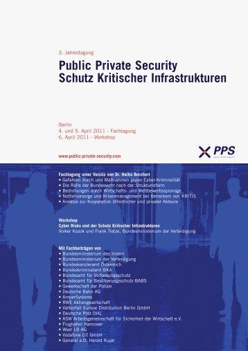 Public Private Security Schutz Kritischer ... - Security Service