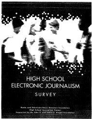 High School Electronic Journalism Survey - Indiana University ...