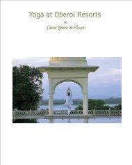 summer tour brochure - Oberoi Hotels