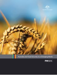 Australia and Food Security in a Changing World - Chief Scientist for ...