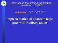QUANTUM COMPUTING WITH RYDBERG ATOMS