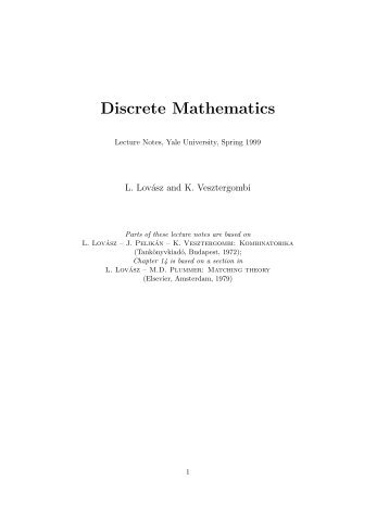 Discrete Mathematics - Computer Science Department