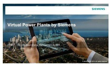 Vit lP Pl t b Si Virtual Power Plants by Siemens
