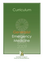 ACRRM GEM Curriculum - Final July09 - Australian College of Rural ...