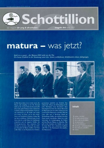 Schottillion Ausgabe Nr. 3 - Alt-Schotten