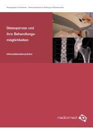 Osteoporose und ihre Behandlungsmöglichkeiten - Radiomed