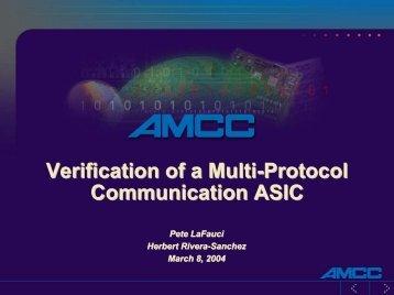 Verification of a Multi-Protocol Communication ASIC