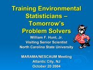Training Environmental Statisticians - Tomorrow's ... - MARAMA