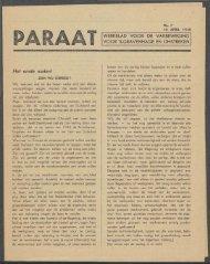 Paraat nr. 7 - Vakbeweging in de oorlog