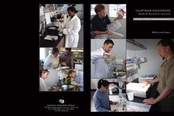 Annual 2005 - Hauptman Woodward Institute - University at Buffalo