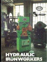 heller hydraulic ironworkers brochure - Sterling Machinery