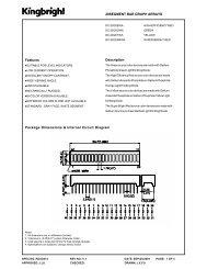20SEGMENT BAR GRAPH ARRAYS Description Features Package ...