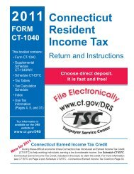 CT-1040 Instructions, 2011 Connecticut Resident Income Tax - CT.gov