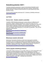 Esteettömyystiedote 3/2011 UUTISIA