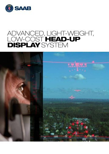 advanced, light-weight, low-cost head-up display system - Saab