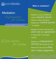 Mediation – Information for victims - Department of Corrective Services