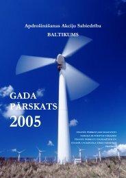 Gada atskaite par 2005. gadu - Baltikums