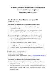Tematy prac dyplomowych
