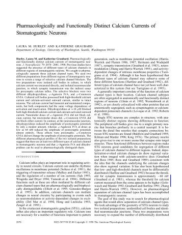 Pharmacologically and Functionally Distinct Calcium Currents of ...