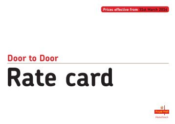 Rate card - Royal Mail