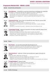 Programme Matinée B2B – 09h00 à 12h30 - Simon-Kucher & Partners