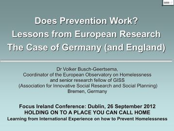 Does Prevention Work in Germany? - Focus Ireland