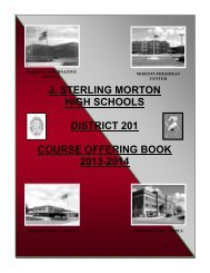 Course Offering Book 2011-2012 - J. Sterling Morton High School ...