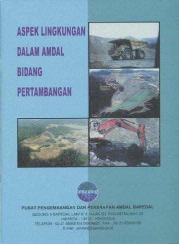 ASPEK LINGKUNGAN DALAM AMDAL - Pusat Sumber Daya Geologi
