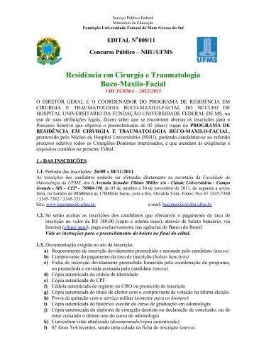 Residência em Cirurgia e Traumatologia Buco-Maxilo-Facial - ITpack