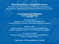 Benchmarking Competitiveness: Using QWI to identify areas with ...