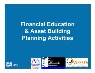 Financial Education & Asset Building Planning ... - IRS Video Portal